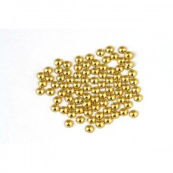 Metal half pearls 4 mm Lt. Gold