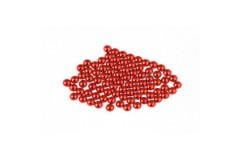 Metal half pearls 4 mm Red