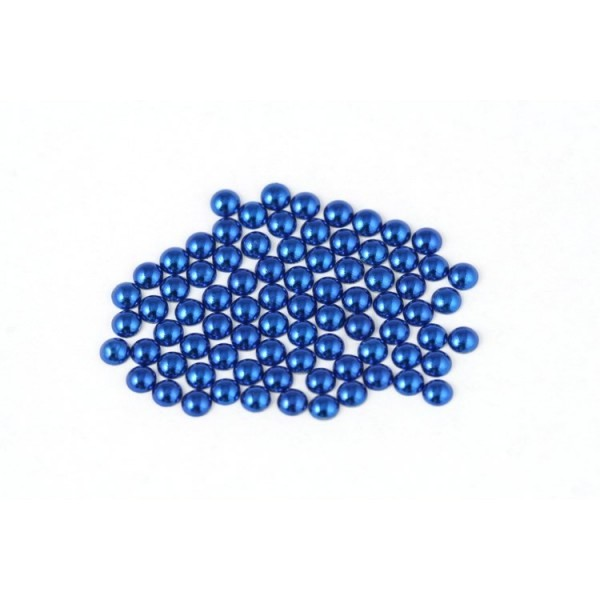 Metal half pearls 4 mm Blue