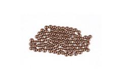 Metal half pearls 4 mm Brown