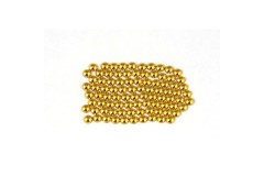 Metal half pearls 4 mm Gold