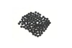 Metal half pearls 4 mm Black