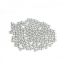 Metal half pearls 4 mm Silver