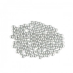 Metal half pearls 6 mm Silver