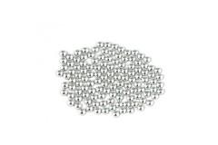 Metal half pearls 6 mm Silver