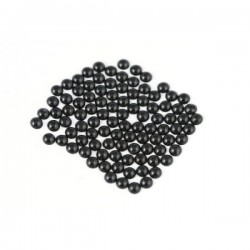 Metal half pearls 6 mm Black