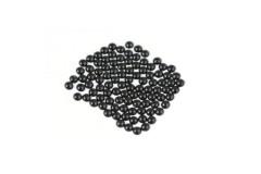 Metal half pearls 6 mm Black