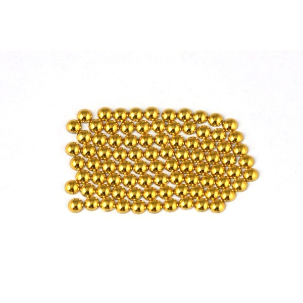 Metal half pearls 6 mm Gold