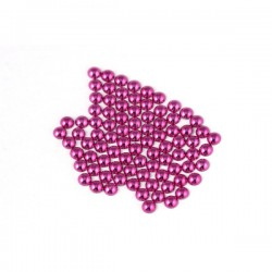 Metal half pearls 6 mm Purple