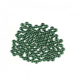 Półperły metalowe 6 mm Green
