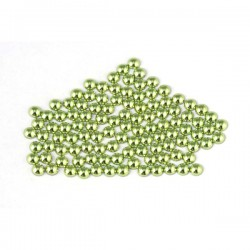 Metal half pearls 6 mm Peridot