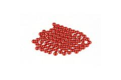Metal half pearls 6 mm Red