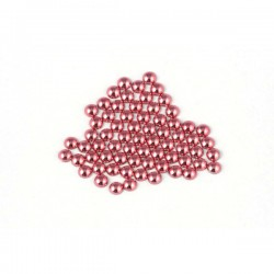 Metal half pearls 6 mm Lt. Pink