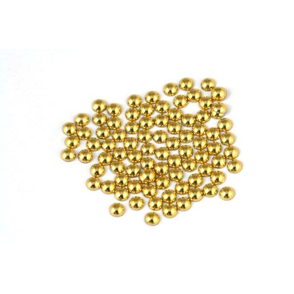 Metal half pearls 6 mm Lt. Gold