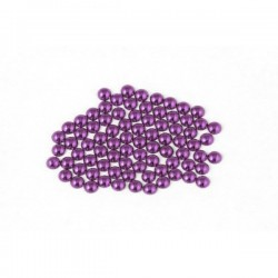 Metal half pearls 6 mm Red Violet