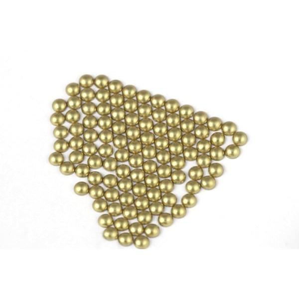 Metal half pearls 6 mm Matt Classic Beige