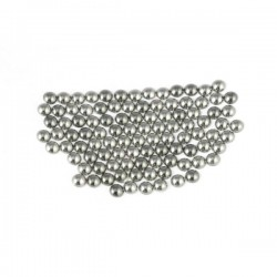 Metal half pearls 6 mm Lt. Gray