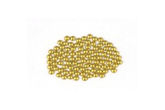 Metal half pearls 6 mm Matt Lt. Gold