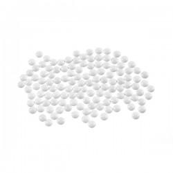 Metal half pearls 6 mm White
