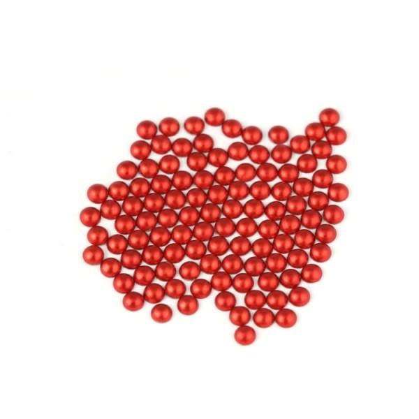 Metal half pearls 6 mm Matt Red