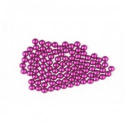Metal half pearls 6 mm Matt Purple