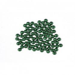 Metal half pearls 6 mm Matt Green