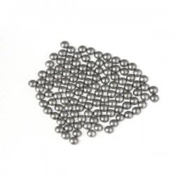 Metal half pearls 6 mm Matt Gray