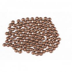 Metal half pearls 6 mm Matt Brown