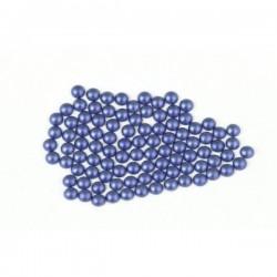 Metal half pearls 6 mm Matt Blue