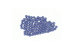 Metal half pearls 6 mm Matt Blue