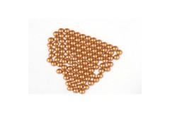 Metal half pearls 6 mm Matt Copper