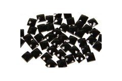 Faceted stones – square 4x4 mm Nor. Black