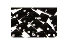 Faceted stones – square 20x20 mm Nor. Black