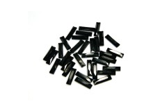 Faceted stones – rectangle 3x10 mm Nor. Black