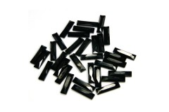 Faceted stones – rectangle 5x19 mm Nor. Black