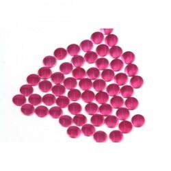 Blaszki płaskie Okrąg 2 mm Fuchsia