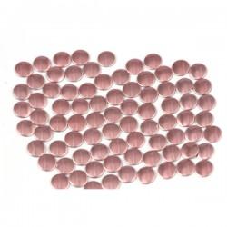 Blaszki płaskie Okrąg 2 mm Lt. Pink