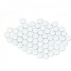 Blaszki płaskie Okrąg 2 mm White