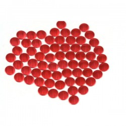 Blaszki płaskie Okrąg 2 mm Lt. Red