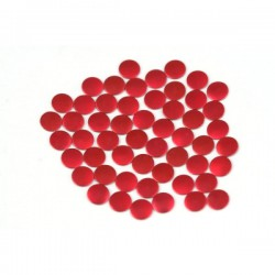 Nailhead studs Round 2 mm Mt. Red