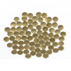 Blaszki płaskie Okrąg 2 mm Brown