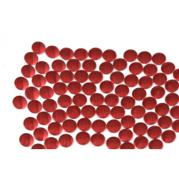 Nailhead studs Round 4 mm Red
