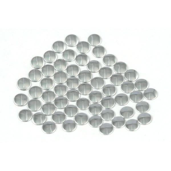 Nailhead studs Round 4 mm Silver