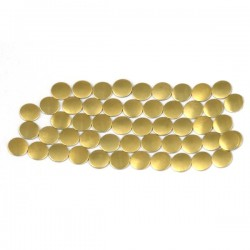 Nailhead studs Round 6 mm Mt. Gold
