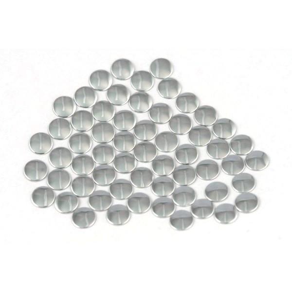 Nailhead studs Round 6 mm Silver