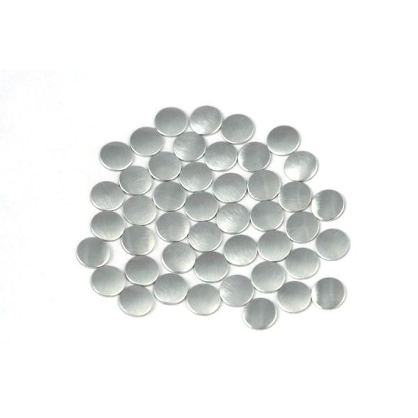 Nailhead studs Round 6 mm Mt. Silver