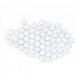 Nailhead studs Round 6 mm White