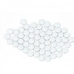 Nailhead studs Round 6 mm White