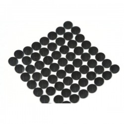 Nailhead studs Round 6 mm Black
