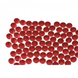 Nailhead studs Round 6 mm Red